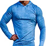 Muscle Alive Bodybuilding Long-Sleeve Hoodie Casual