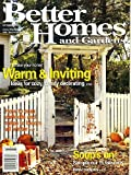 front porch decorating ideas Better Homes and Gardens October 2000 Ideas for Cozy Comfy Decorating, 15 Fabulous Soup Recipes, Make Daffodils and Tulips Bloom All Winter, Dress Your Walls With Fabric, End-of-the-Bed Bench, A Front Porch That Fits In