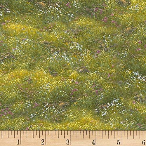 Elizabeth's Studio Noah's Ark Grass Green Fabric by The Yard,
