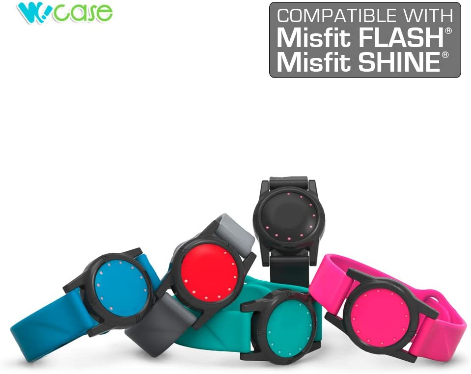 WoCase Wristband for Misfit Flash and Shine 1st Gen. Activity and Sleep Tracker Band Bracelet One Size, Fits Most Wrist