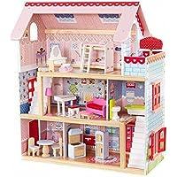 KidKraft- Casa de muñecas de madera con muebles