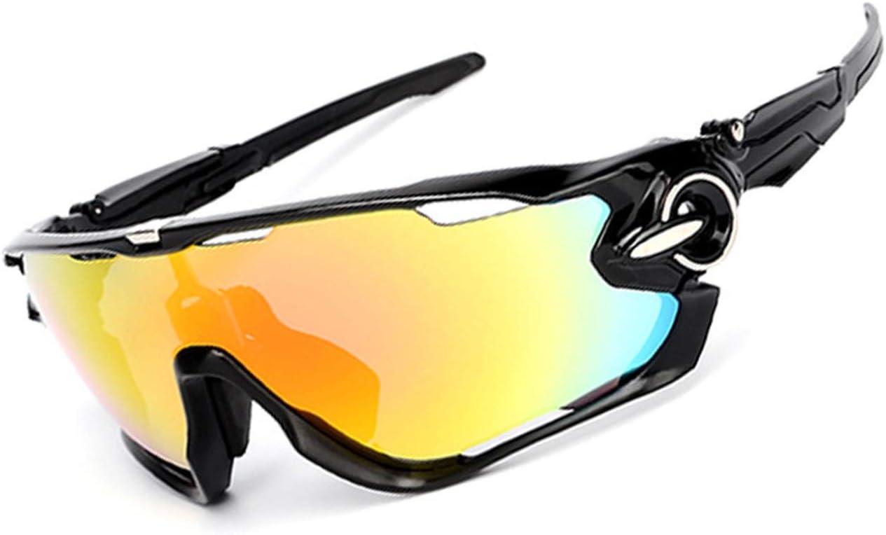 Blisfille Gafas de Protección Oscuras Gafas de Deporte,Blanco Negro