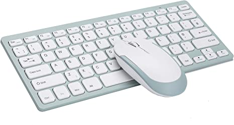 Wireless Keyboard and Mouse Combo Compatible with PC Laptop Windows Desktop Notebook Silver ORITECH 2.4GHz USB Nano Mini Quiet Keypad Ultra Thin /& Light