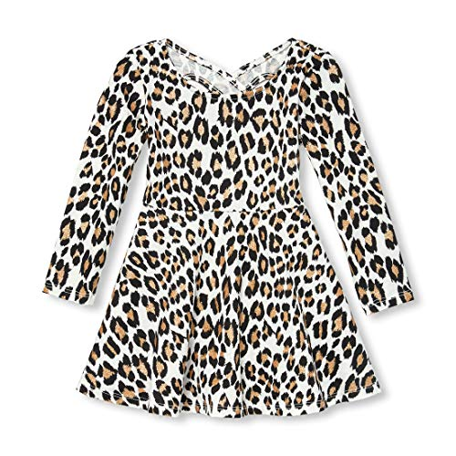 The Children's Place Girls' Toddler' Long Sleeve Casual Dresses Snow 9-12MOS