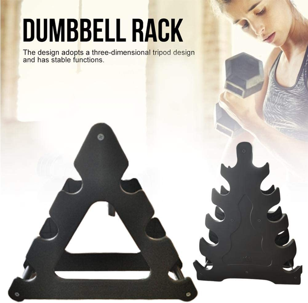 Multifunctional 3//5 Layer Dumbbell Rack A Frame Weight Rack Storage Compact Rugged Anti-wear Dumbbell Holder Strength Training Equipment for Household Use Gym Organization Fitness Weights
