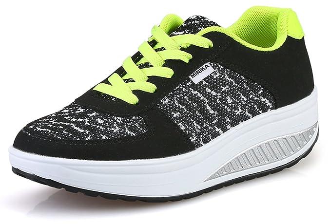 d38a7837aae84 Amazon.com | Ausom Women's Breathable Casual Swing Shoes Platform ...