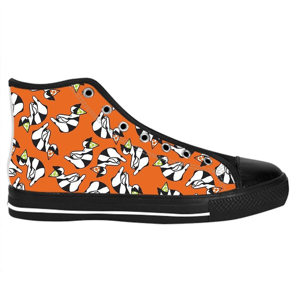 Custom Cat Mens Classic High Top Canvas Shoes Fashion Sneaker