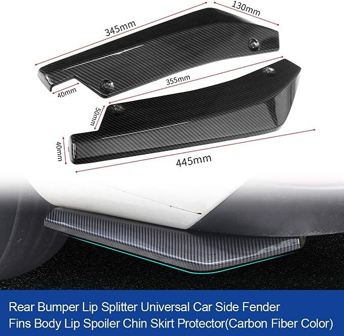 Protezioni angolari paraurti parafango carrozzeria universale in fibra di carbonio