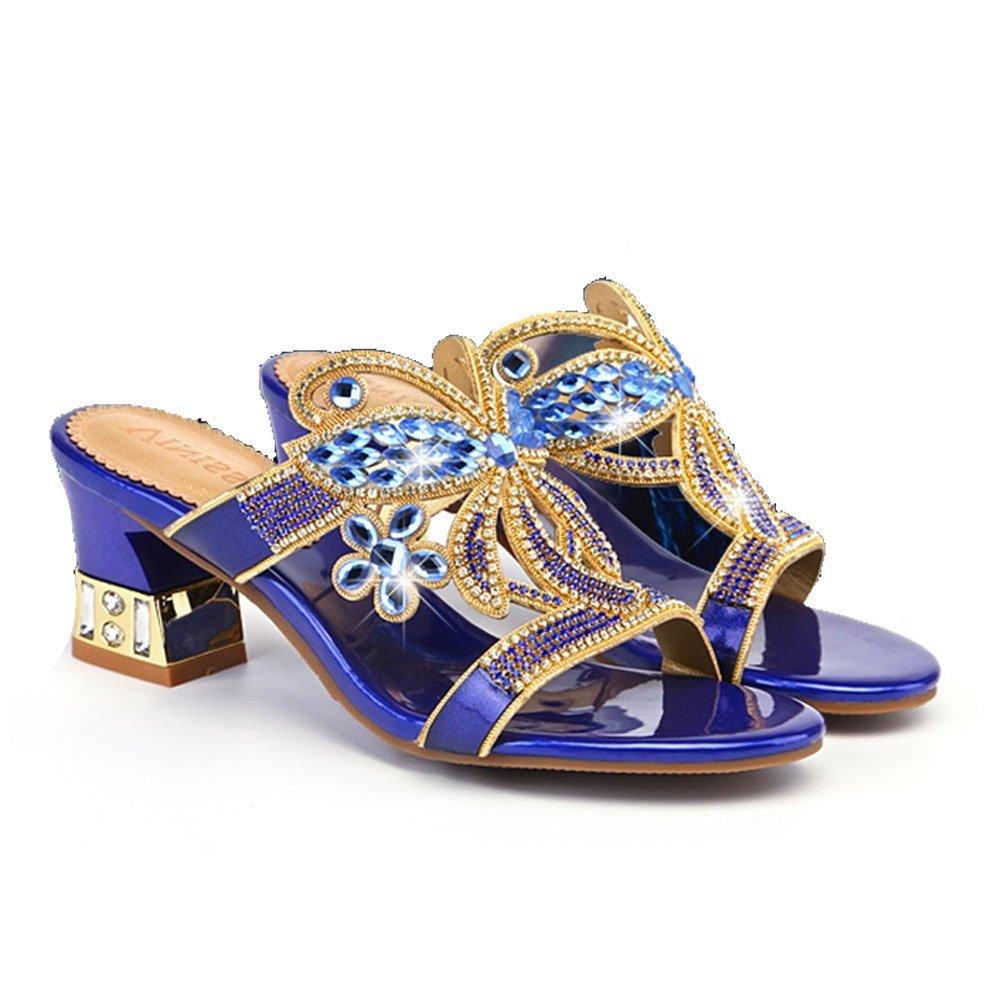 XIE Desgaste del Verano de Las Zapatillas de Deporte de Diamantes de Imitación con Las Sandalias y Las Zapatillas Zapatillas de Deporte de Cuero Nuevas de ...