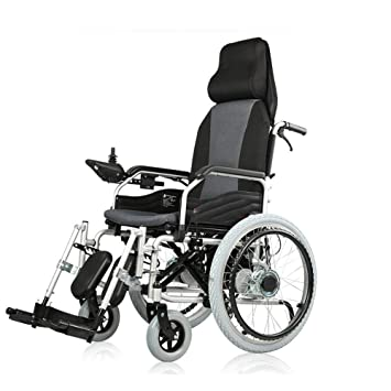 DLY Silla de Ruedas Eléctrica para Discapacitados de Edad ...