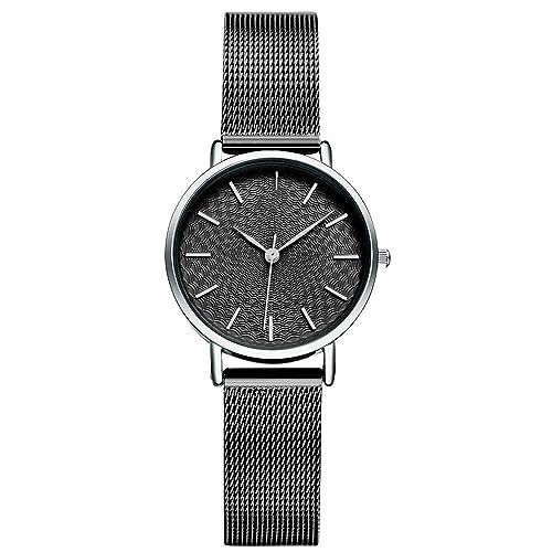 Amazon.com: Relojes de acero inoxidable con malla de color ...