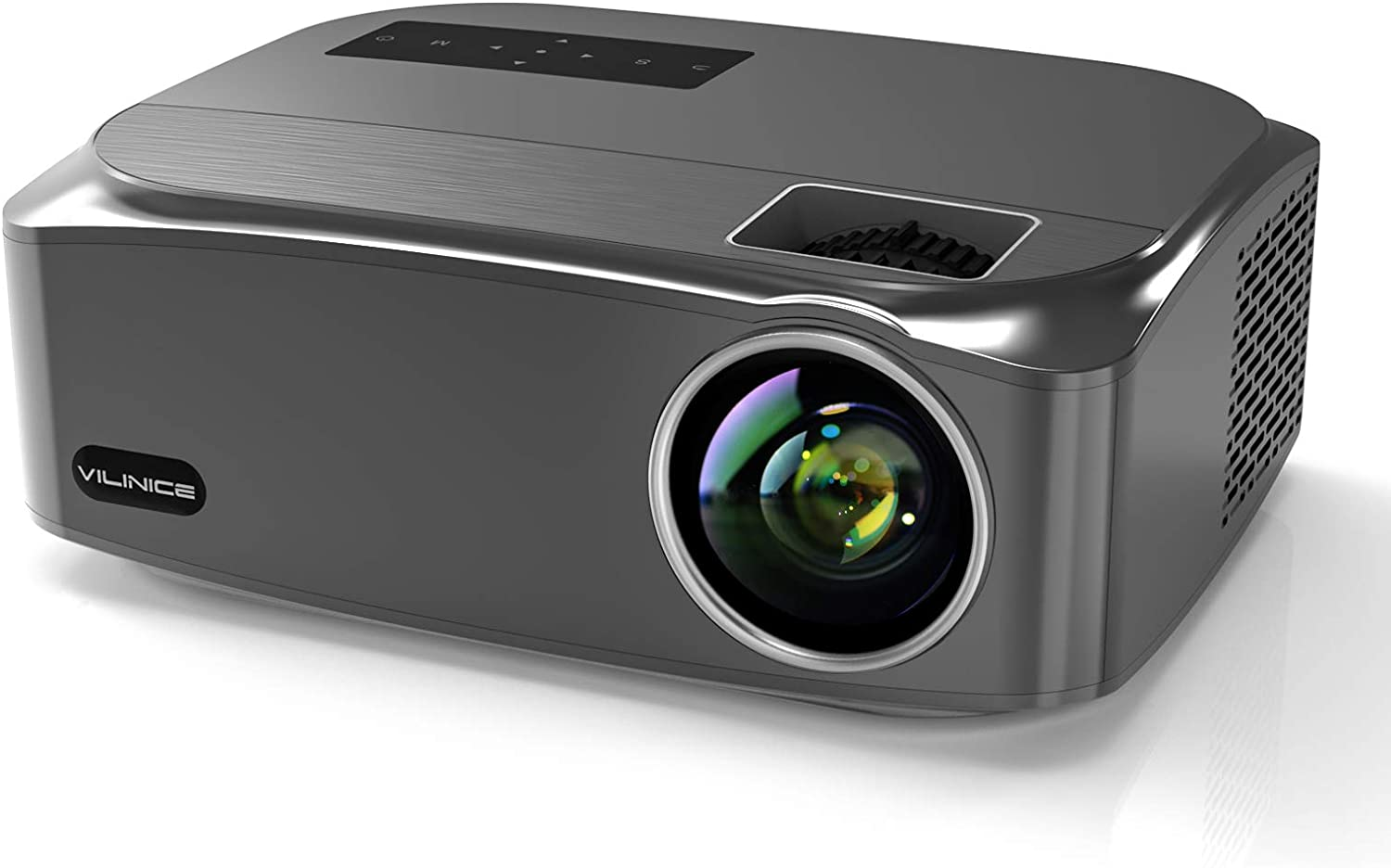 "Native 1080P Projector, VILINICE 7500Lux Full HD Movie Projector with max 300"" Display Ideal for Outdoor Movie Night, Home Theater, Compatible with TV Stick, PS4, HDMI, VGA, AV and USB"
