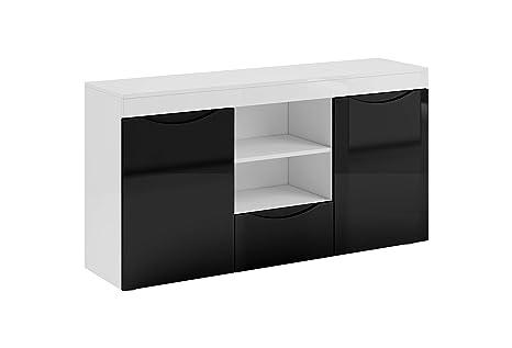 La Credenza Muebles : Muebles bonitos credenza modello nalak colore bianco e nero cm