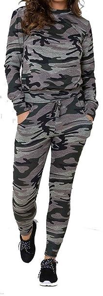 Nuevo Mujer Estampado Camuflaje Militar Pantalón Y Chaqueta ...