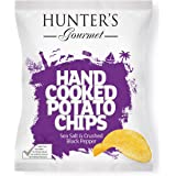Hunter's Gourmet Hand Cooked Potato Chips Sea Salt & Crushed Black Pepper - 125gm