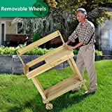 LUCKYERMORE Potting Bench Table Wooden Gardening