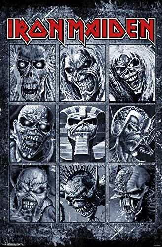 Trends International Iron Maiden-Grid Clip Bundle Wall Poster 22.375