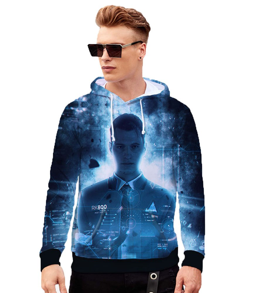 Hoodies for Men 3D Printed Baseball Jacket Hot Game Sweatshirt