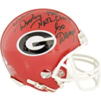 $97 » Vince Dooley Georgia Bulldogs Autographed Signed Riddell Mini Helmet Red With 1980 Natl.…
