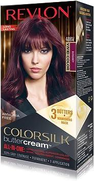 Revlon Luxurious ColorSilk Buttercream 48BV Marrón - coloración del cabello (Marrón, 48BV, Burgundy)