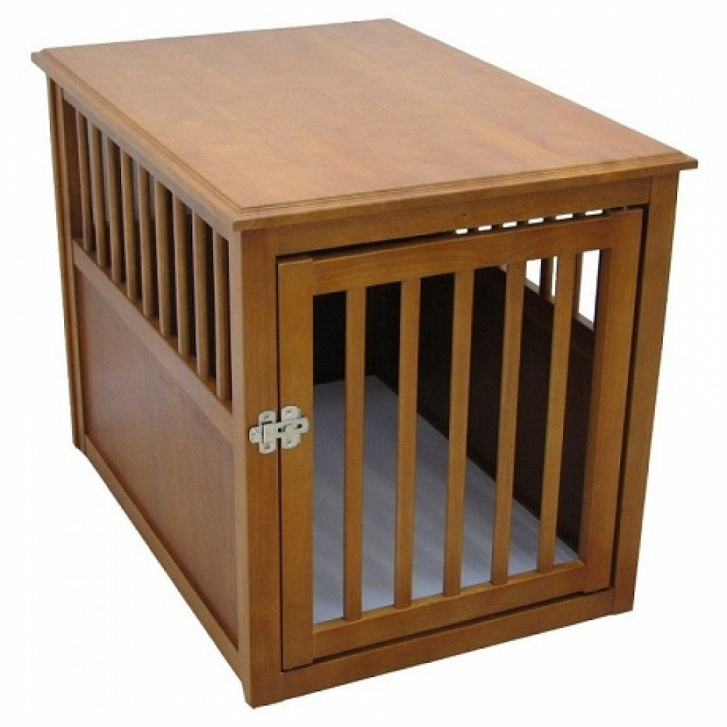 Crown Pet Products Dog Crate Table - Large/Mahogany CPP-L-MAH
