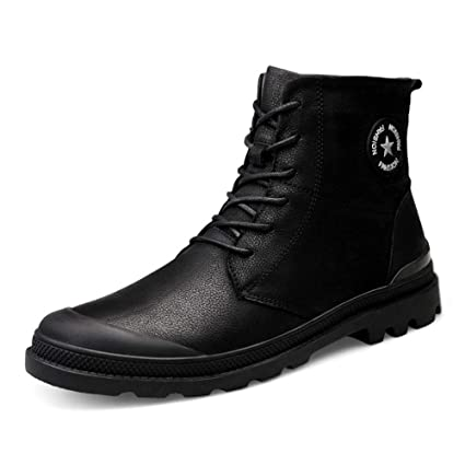 a3e6b1b99aa Amazon.com : RUI Men's Snow Boots, Men High-top Keep Warm Athletic ...