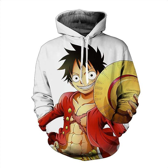 Lzh3D Sudaderas con Capucha Unisex Impresión 3D Sudadera con Capucha Camiseta De Béisbol Cosplay Anime One Piece Luffy S-XXL: Amazon.es: Ropa y accesorios