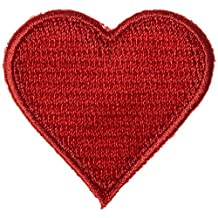 Wrights 196 698-1 Applique Iron-On Appliques-Red Hearts 1-3/4-Inch X 1-3/4-Inch 2/Package