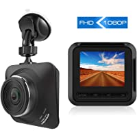 """Apexcam Dash Cam 1080P Full HD Driving Recorder Mini Car Camera DVR Dashboard Camera with 2.2"""" IPS Screen 170° Wide Angle G-Sensor, Motion Detection, Loop Recording, Parking Monitor,Night Vision"""