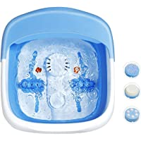 Giantex Heated Foot Spa Bath Massager Collapsible Design, 3 in 1 Footbath Tub with Rollers Pumice Stone Scrub Brush…
