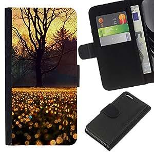 All Phone Most Case / Oferta Especial Cáscara Funda de cuero Monedero Cubierta de proteccion Caso / Wallet Case for Apple Iphone 5C // Sky Tree Rain Morning Sunrise