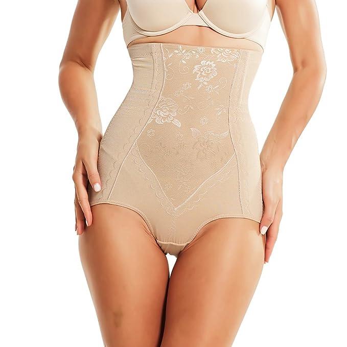 1d786ba7db AICONL Women s High-Waist Brief Shapewear Steel Bone Tummy Slimmer Waist  Cincher Panties Body Shaper Shorts at Amazon Women s Clothing store
