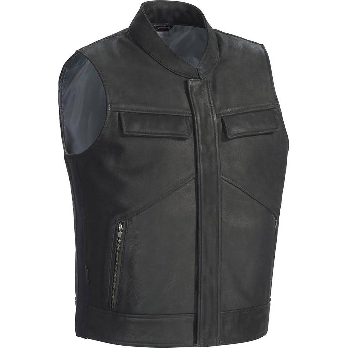 TourMaster Men's Renegade Leather Vest (Black, Large)