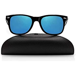 Amazon.com: GREY JACK Classic Polarized Retro Square Horn ...