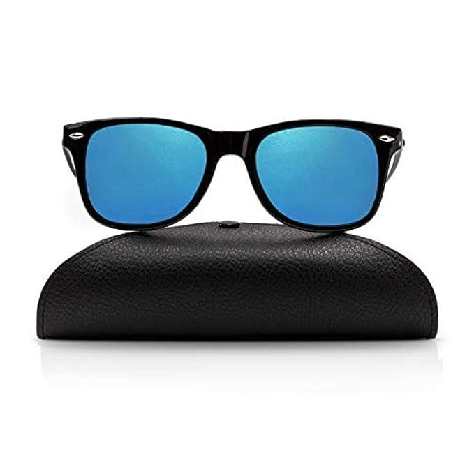 Amazon.com: Gafas de sol polarizadas Wayfarer para hombres y ...