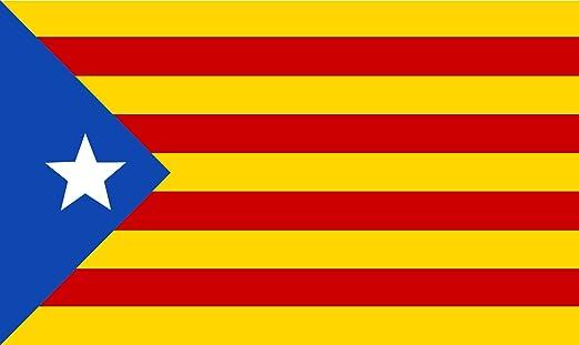 KiipFlag Gran Bandera de Cataluna Estelada Blava 90x150cm - Catalana - Catalunya - Bandera de Cataluña: Amazon.es: Jardín