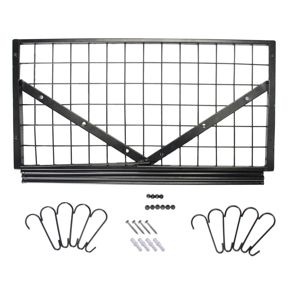 ZESPROKA Kitchen Wall Pot Pan Rack,With 10 Hooks,Black by ZESPROKA (Image #8)