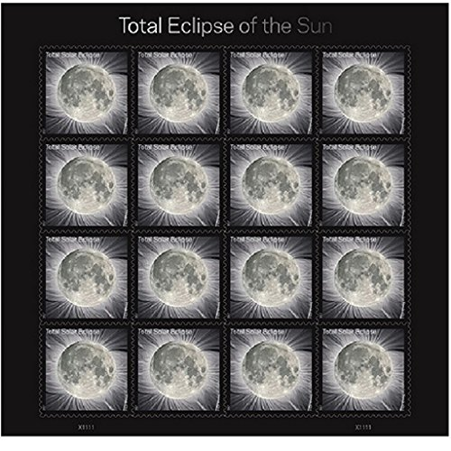 Total Solar Eclipse of the Sun 5 Sheets of 16 USPS First Class Postage Stamps Wedding Celebration Photo #2