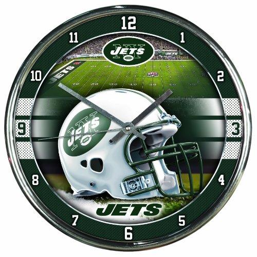 "NFL New York Jets Chrome Clock, 12"" x 12"""