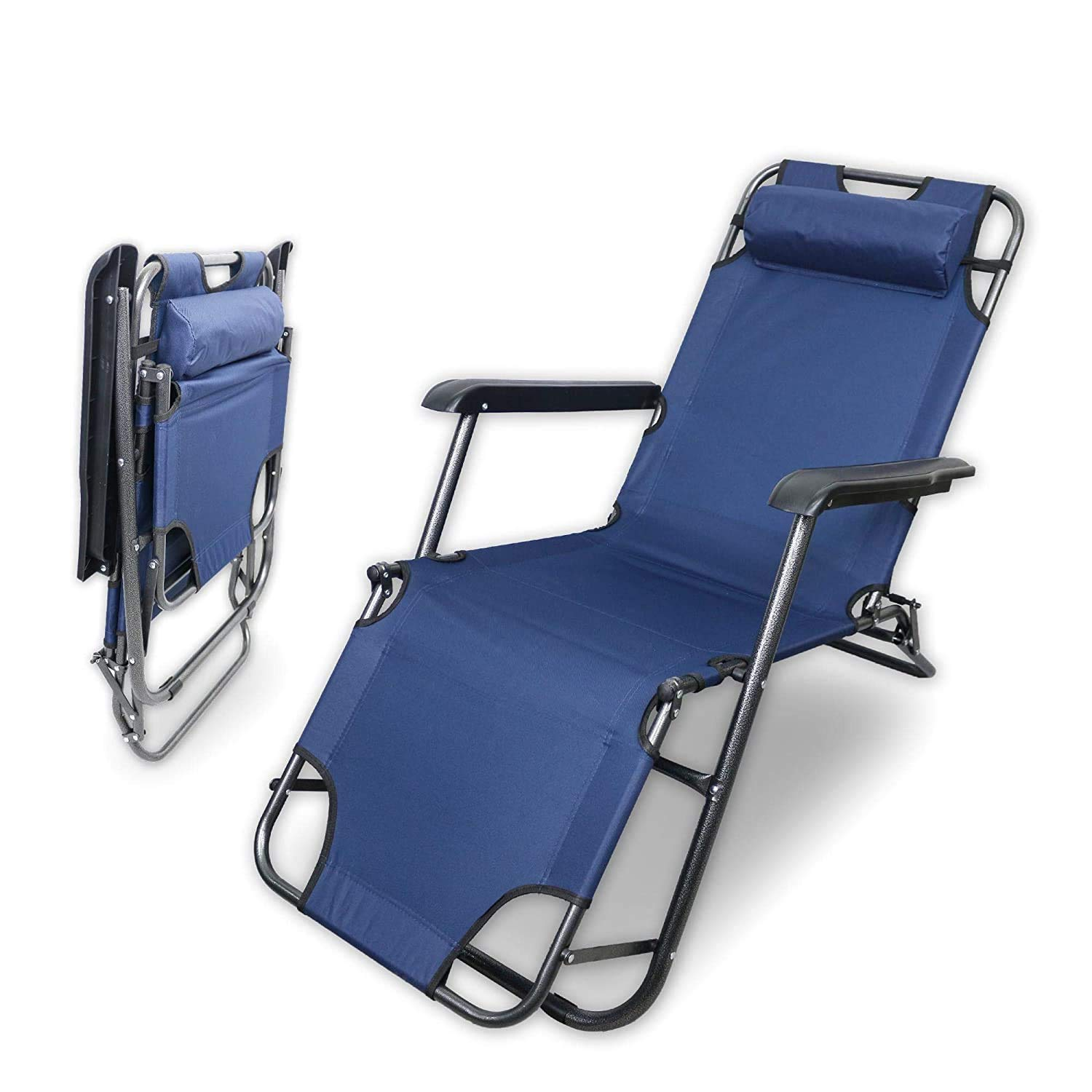 Sajani Folding Beach Chair Outdoor Sun Loungers Folding Recliner Portable Rear Fishing Chair Camping Wild Beach Stool Rest Bed