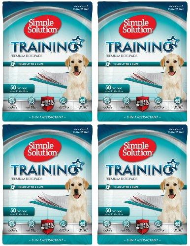 Simple Solution Original Training Pads 200 pk (4x50pk) (Simple Solution Economy Puppy Training Pads)
