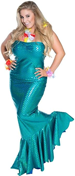 Delicado Illusions Plus tamaño Ocean NINFA Sirena para Mujer ...