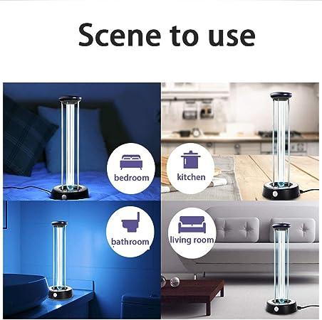 HSJCZMD Lámpara germicida Ultravioleta El Sensor del Cuerpo Humano apaga automáticamente el desinfectante LED El desinfectante de 360 ° desinfecta la luz con Control Remoto por Infrarrojos: Amazon.es: Hogar