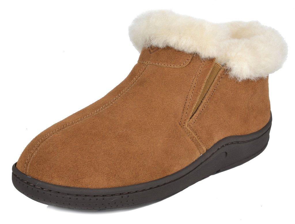 DREAM PAIRS Women's Huggie-01 Chesnut Sheepskin Fur Winter House Slippers - 6.5-7 M US