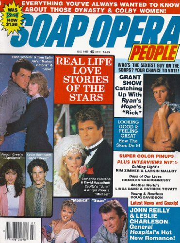 - David Haskell, John Reilly, Leslie Charleson, Nancy Addison, Harley Kozak, Grant Show Centerfold Poster, Everything You Always Wanted to Know About Those Dynasty and Colby Women - July, 1986 Soap Opera People Magazine