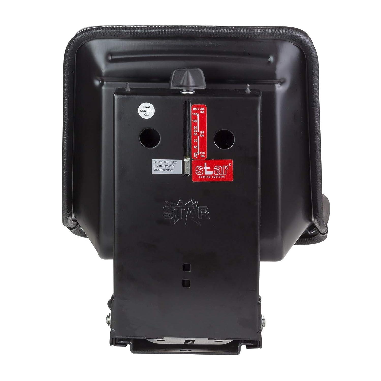 in PVC Seggiolino per trattore KS 44//8 colore nero lunghezza 390 mm KlaraSeats
