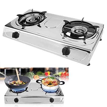 Coldcedar Propane Gas Stove 2 Burner Portable Stove Household Stainless  Steel Furnace Durable Advanced Camping Cooker