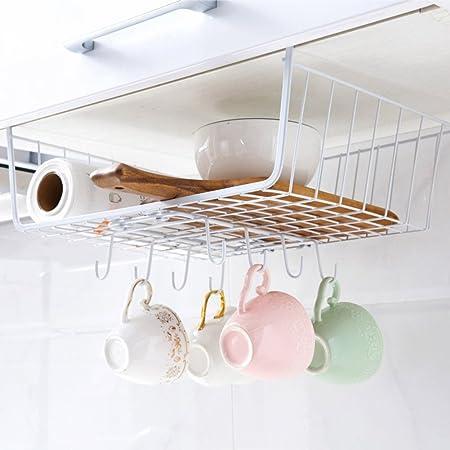 TY/u0026WJ Mug Holder Under Cabinet,Wall Mounted Coffee Cup Holder Wall Rack  Cupboard Metal 8 ...