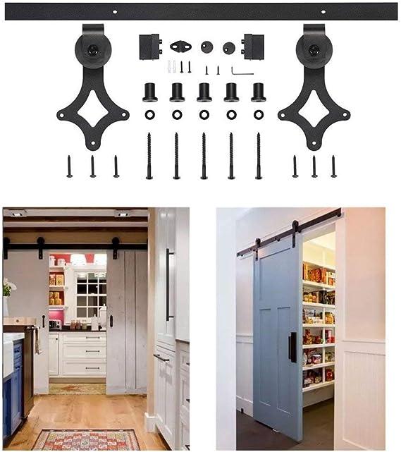 Kit de puerta corredera fácil de instalar con riel deslizante de ...