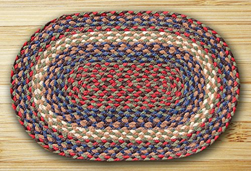 - Earth Rugs 110-JPMS-040 Oval Jute Placemats (Set of 4), 13